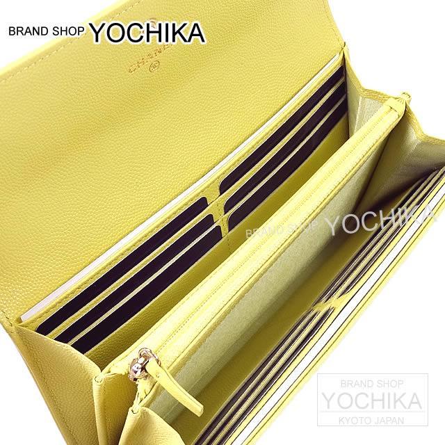 CHANEL ココマーク ファスナー付 フラップ 長財布 黒 キャビアスキン A50070 新品