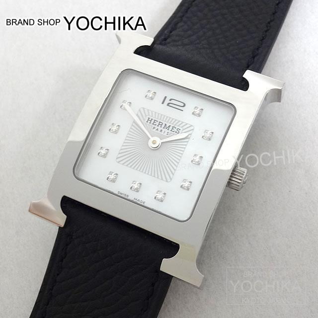 quality design d7e2f e2210 HERMES エルメス 腕時計 Hウォッチ MM 11P ダイヤ