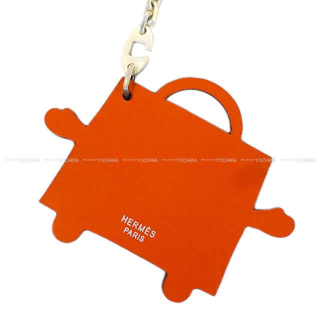 "on sale e590c b785f HERMES エルメス 限定 バッグチャーム キーリング ""ケリードール"" オレンジ ヴォータデラクト 新品未使用"
