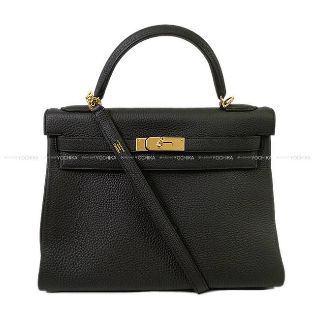 ケリー32 内縫い 黒(ブラック) トゴ GHW
